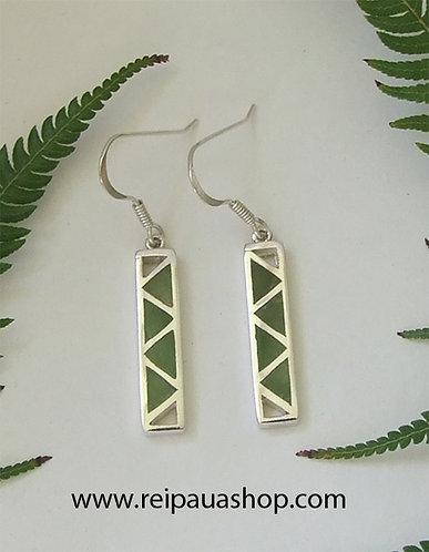 """""""Baskets of Knowledge"""" NZ Jade Jewelry Silver Earring  G2372"""