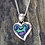 "Thumbnail: ""Paua Love Heart""  NZ Paua Shell Sterling Silver Pendant  3068"