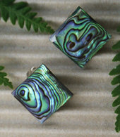 Clip Earring - Hand Carved Paua Shell (2068/cBX)
