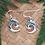 """Thumbnail: """"Open Koru"""" Sterling Silver NZ Paua Earrings 2360bx"""
