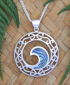 """NZ Jewelry design """" Neptune's Window"""" WE are islands in the Sea. The Sea surounds us, it is all encompassing, protecting. Nurturing new life. Rei means Jewellery, by Ray Fransham"""