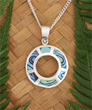 "Rei ""Sunshine""NZ Paua Shell Sterling Silver Pendant  3090"