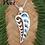 "Thumbnail: Rei ""Wave-Frond"" NZ Jewellery Paua Shell Sterling Silver Pendant  3089"