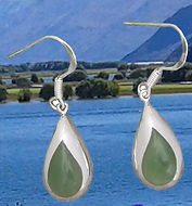 "g2369 ""Te Wai""(The Water) Deep in the moutains of the West Coast of the South Island of New Zealand is where you find our precious Pounamu or Greenstone (Nephrite Jade). New Zealand Jewellery, design by Ray Fransham"