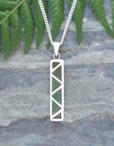"Pounamu ""Baskets of Knowledge"" NZ Greenstone Sterling Silver Pendant G3416"