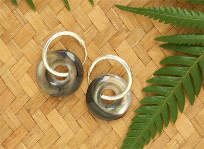 Pacific Gift Black Pearl Silver Sleeper Earring - 92224bx