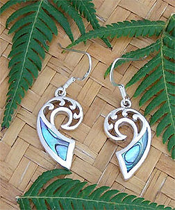 Beautiful NZ Paua Shell Earring Sterling Silver By Rei Jewellery Ltd. www.reipauashop.com