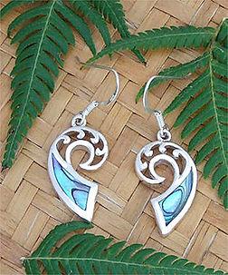 Beautiful NZ Paua Shell Earring Sterling Silver By Rei Jewellery Ltd. www.reipauashop.com