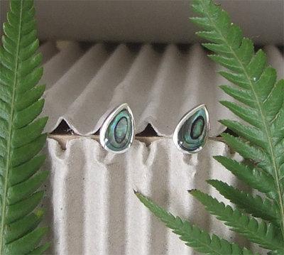 Sterling Silver NZ Paua Stud Earring 2410bx