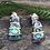 """Thumbnail: """"Butterfly"""" Sterling Silver NZ Jewellery Paua Stud Earring 2138bx"""