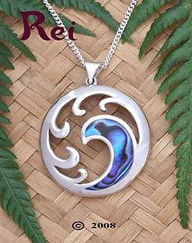 Rei Jewellery - Tangaroa - Paua pendant