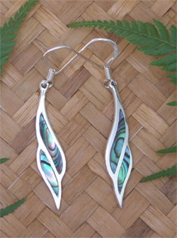 Charming Sterling Silver NZ Paua Shell Earrings 2111bx