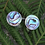 Thumbnail: Sterling Silver NZ Paua Stud Earrings 2133bx
