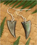 Black Pearl Shell Silver Earring - 92305bx