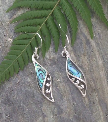 "Our ""Wishes"" NZ Paua Sterling Silver Earrings 2368bx"