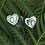 """Thumbnail: """"Sweet-Heart""""Sterling Silver NZ Paua Stud Earring 2154bx"""