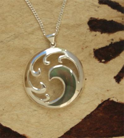 """Tangaroa"" Black Pearl Sterling Silver Pendant 93064bx"