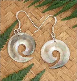 """KuruPearl"" Black Pearl Shell Silver Earring - 92233bx"