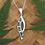 "Thumbnail: ""Harmony"" NZ Jewellery Paua Shell Sterling Silver Pendant 3097"