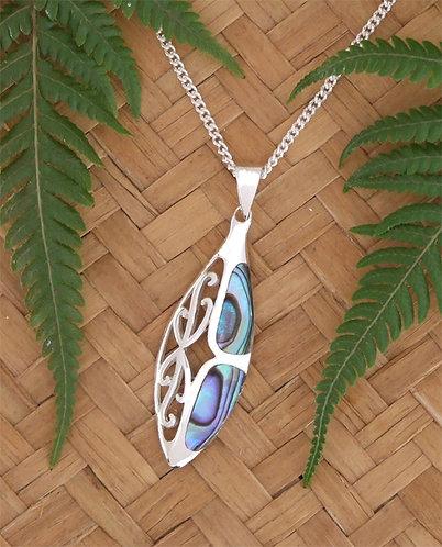 Butterfly - NZ Paua Shell Sterling Silver Pendant  3082bx