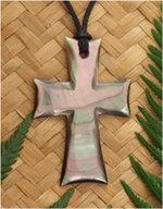Black Pearl Cross Pendant (98059BX)