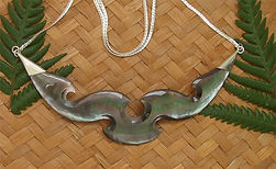 Beautiful Black Pearl Fern Handcarved Gifts by Rei Jewellery Ltd. New Zealnd