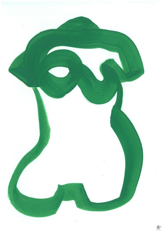 Woman´s Torso in Green