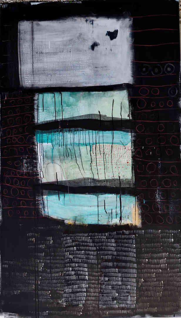 2018 mixed media on canvas 110 x 190cm