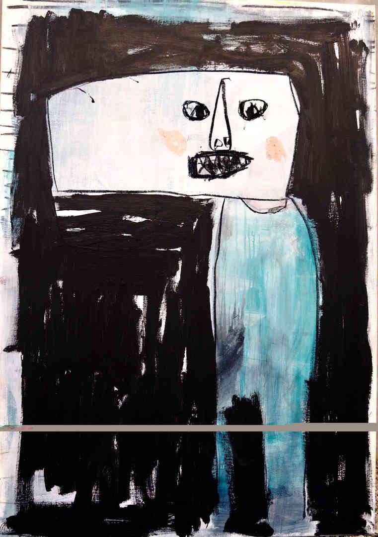 2018 mixed media on canvas 90 x 130cm