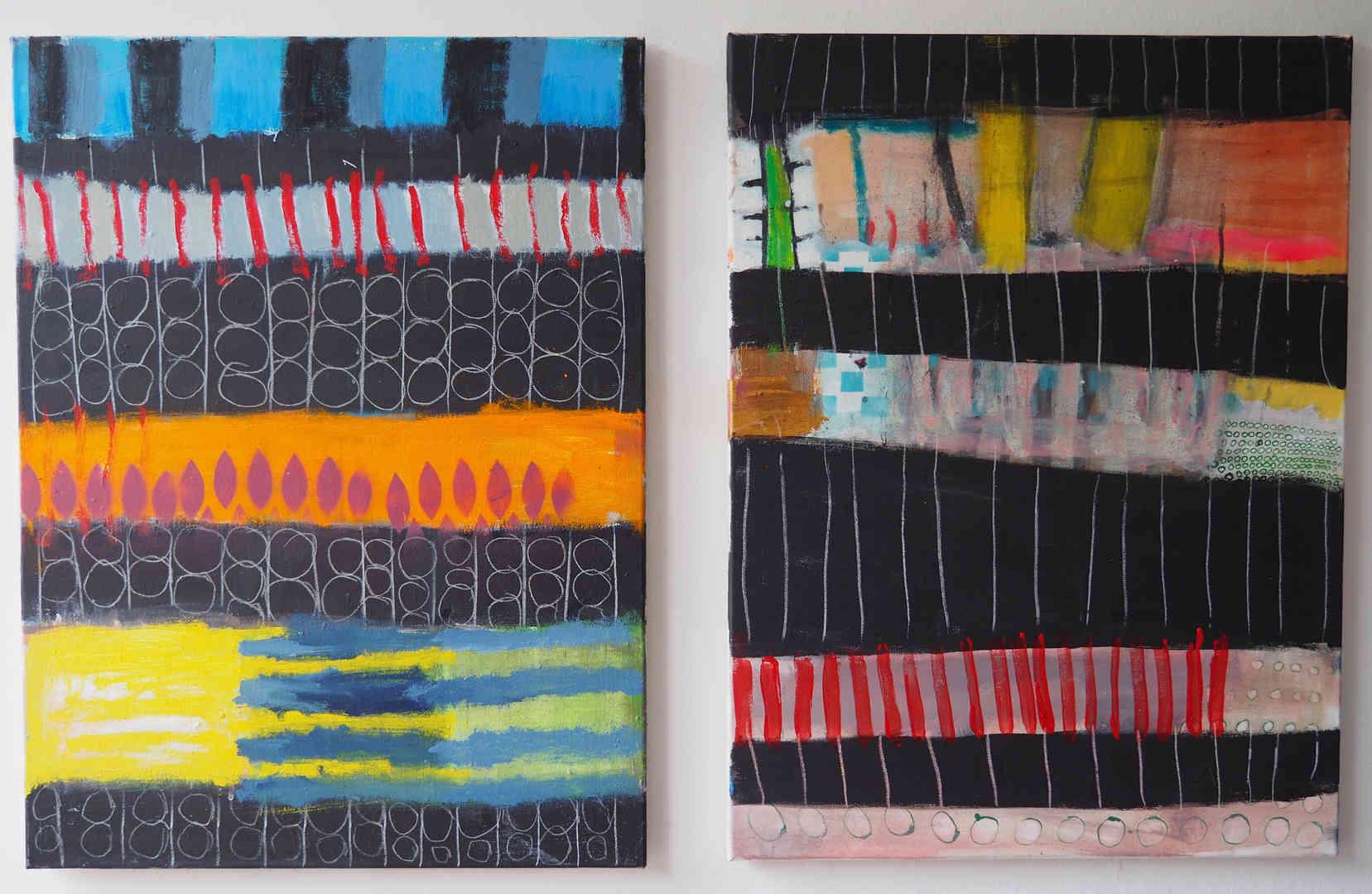 2019 mixed media on canvas 2 x 60 x 80cm
