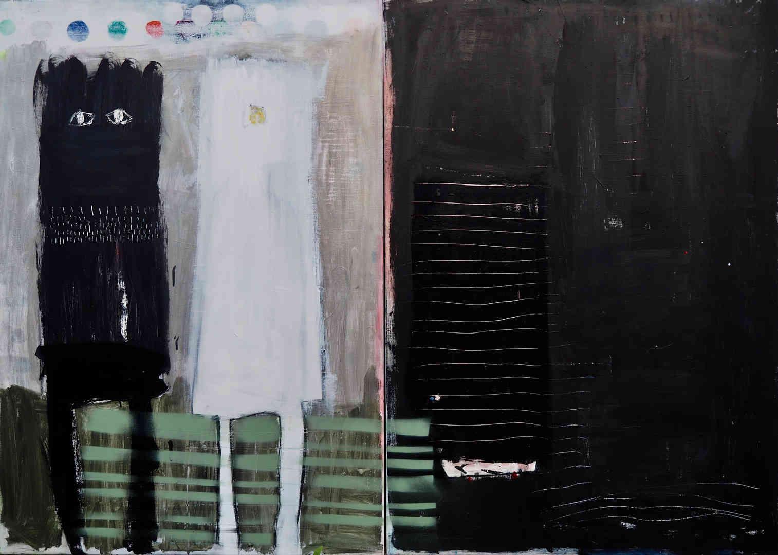 2018 mixed media on canvas 2 x 90 x 120cm