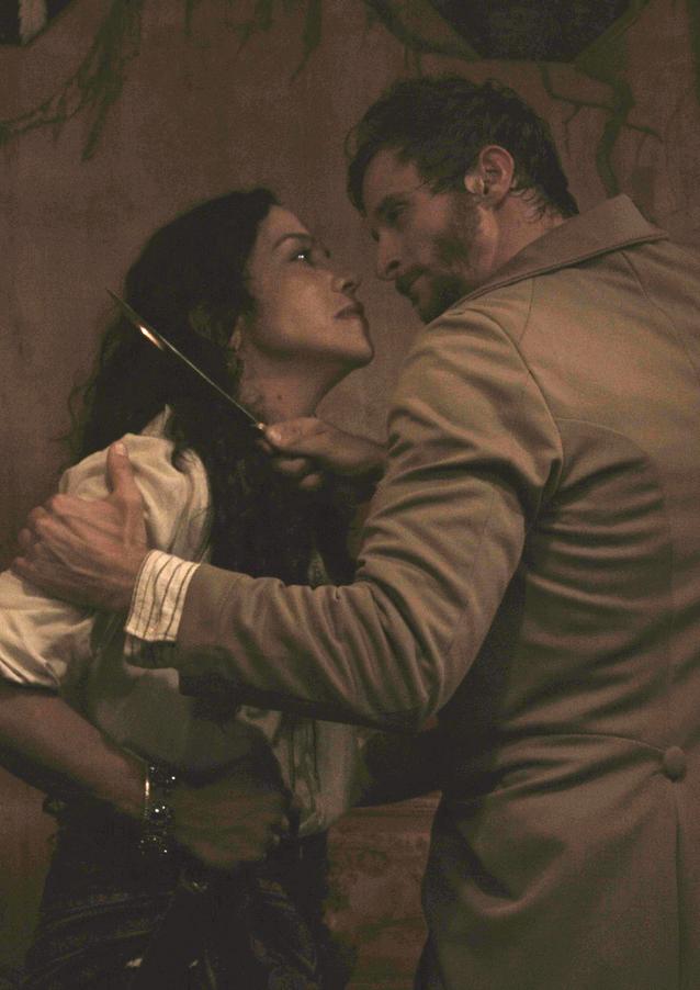 """Arlette Del Toro as Nadya and Tyler Charles Kane as Victor Frankenstein in """"The Gravedigger"""" Directed by Erynn Dalton, written by Joseph Zettelmaier"""