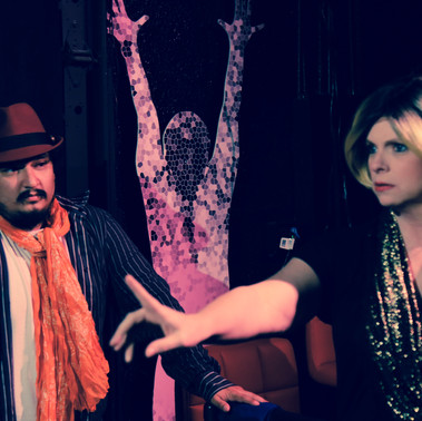 Theatre of Terror Infinite Abyss Productions Written & Directed by Erynn Dalton Pictured: Fernando Barron II & Siobhan Nolan