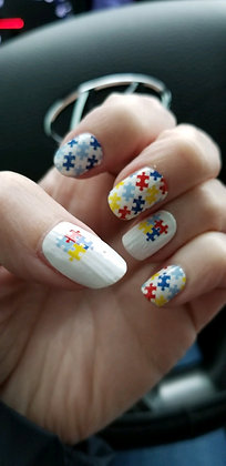 Color Street Autism Awareness Nail Stickers