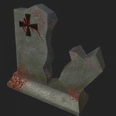 Broken Gravestone