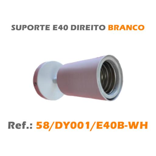 SUPORTE E40 BRANCO