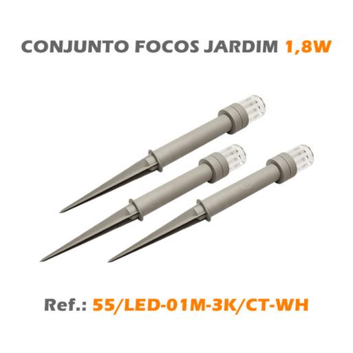 CONJUNTO FOCOS JARDIM 1,8W