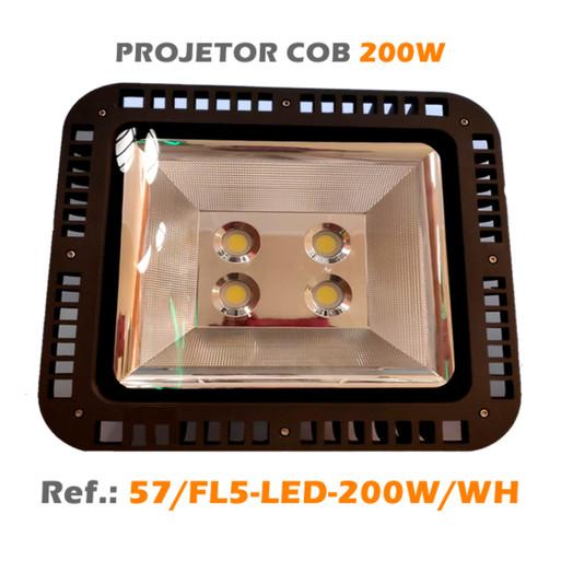 PROJETOR EXTERIOR LED COB 200W