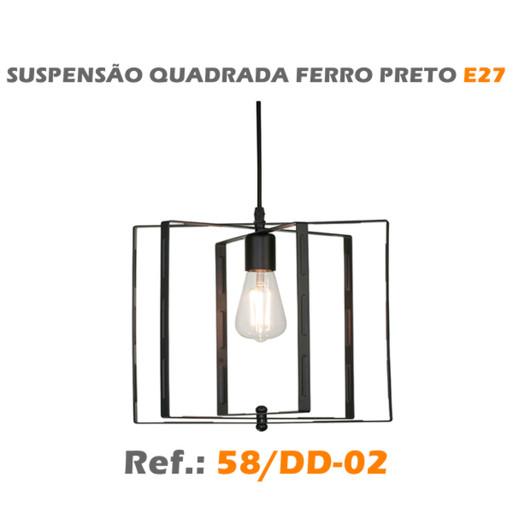 SUSPENSÃO QUADRADA E27