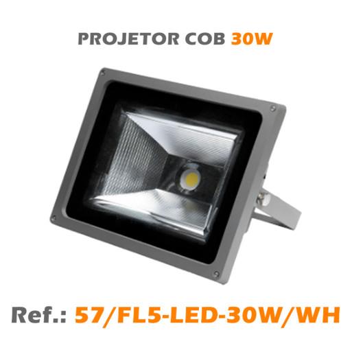 PROJETOR EXTERIOR LED COB 30W