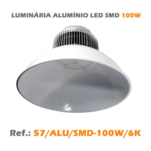 LUMINÁRIA ALUMÍNIO LED SMD 100W