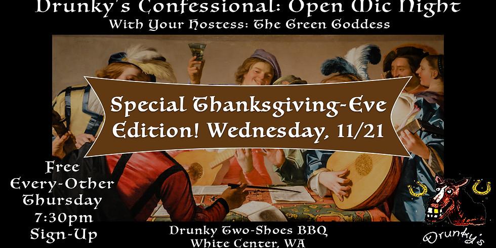 Thanksgiving Eve Open Mic Night!