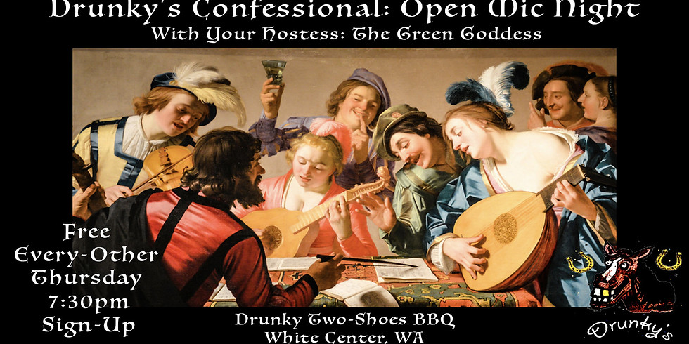 Drunky's Confessional: Open Mic Night