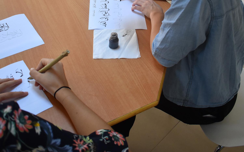 Arabic students enjoy calligraphy workshops