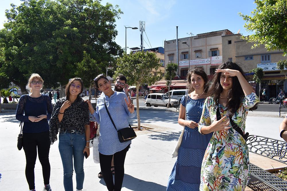 Arabic students volunteer in Rabat