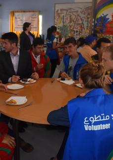 Qalam volunteers at Haddaf