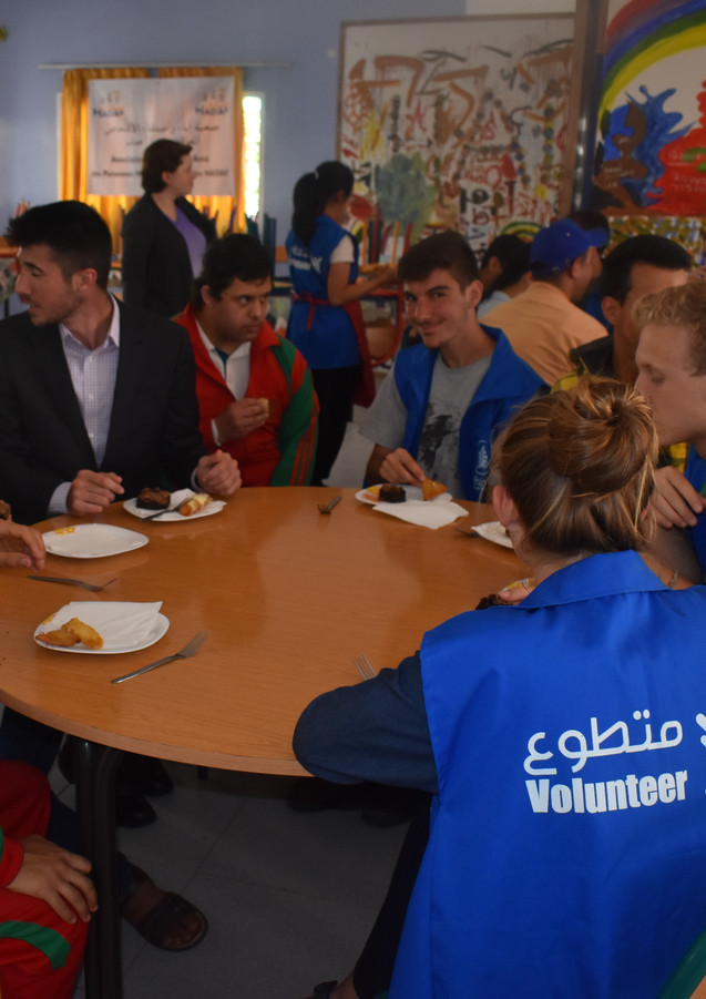 Qalam volunteers at Haddaf