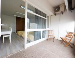 Triple bedroom balcony