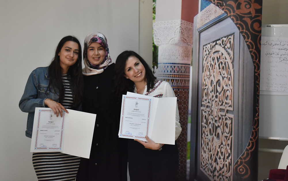 Ibn Battuta Scholarships students with their Arabic teacher