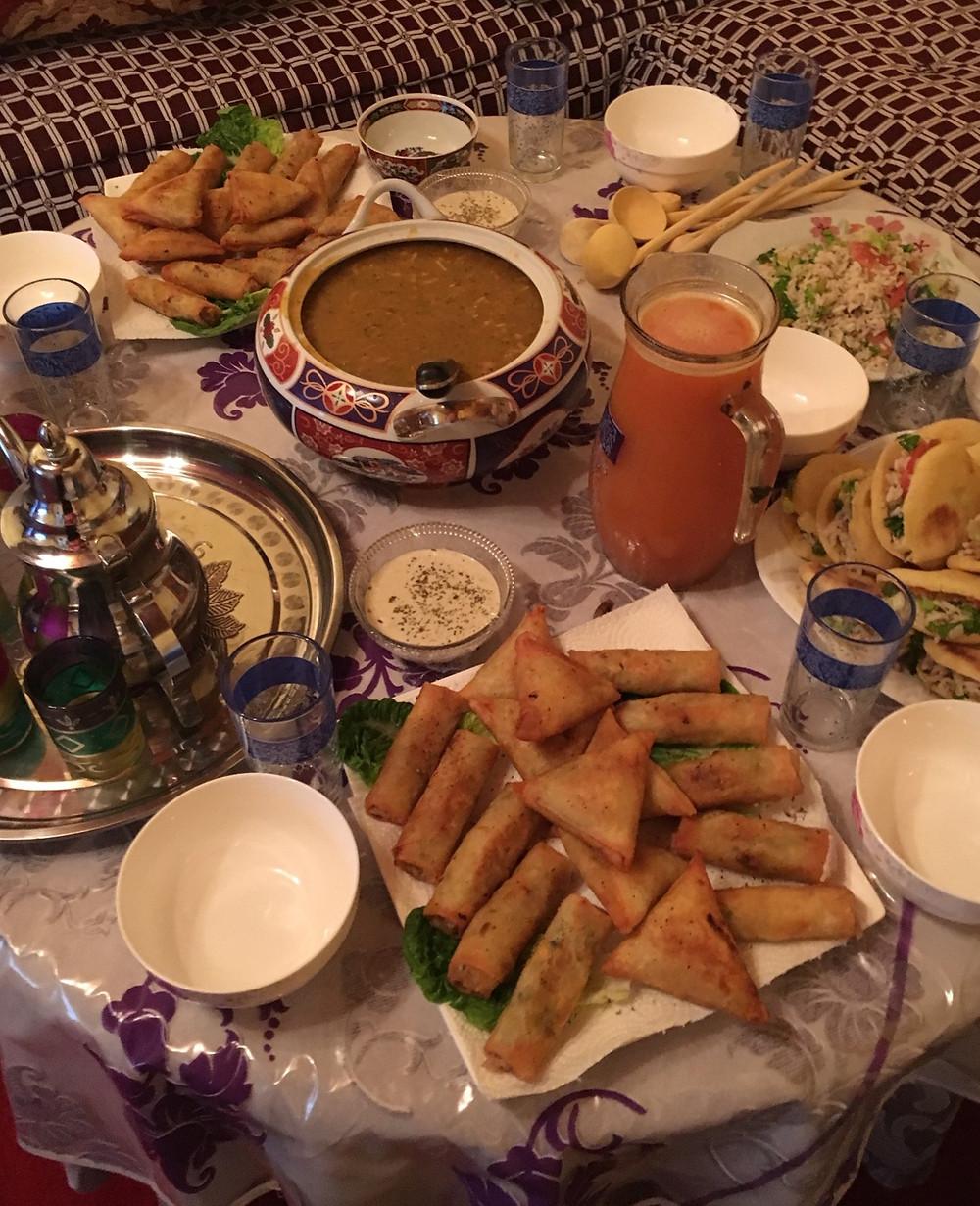 Moroccan Ftour during Ramadan